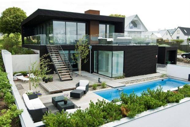 Rumah Minimalis Ada Kolam Renang Arsitektur Modern