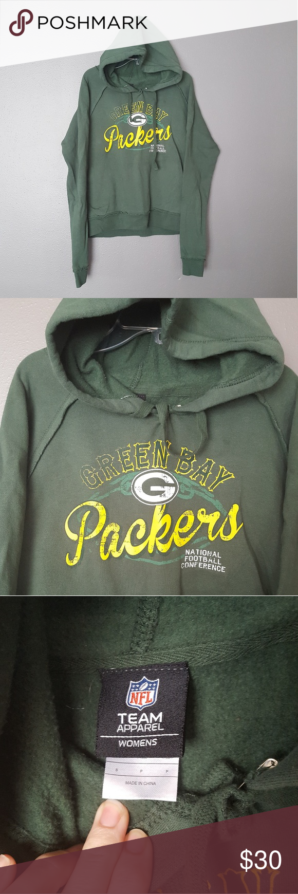 04b2371b NFL Team Apparell》Greenbay Packers Hoodie Worn once, washed once ...