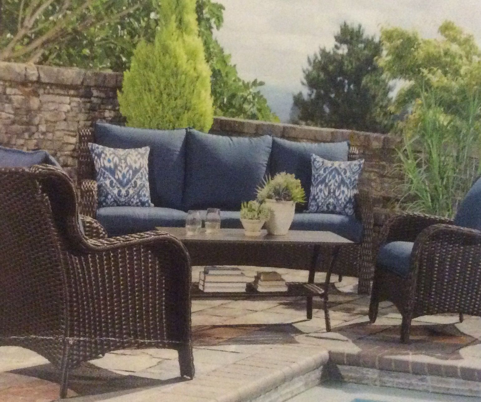 Palisades 4-piece wicker sofa set. Includes 2 wicker ...