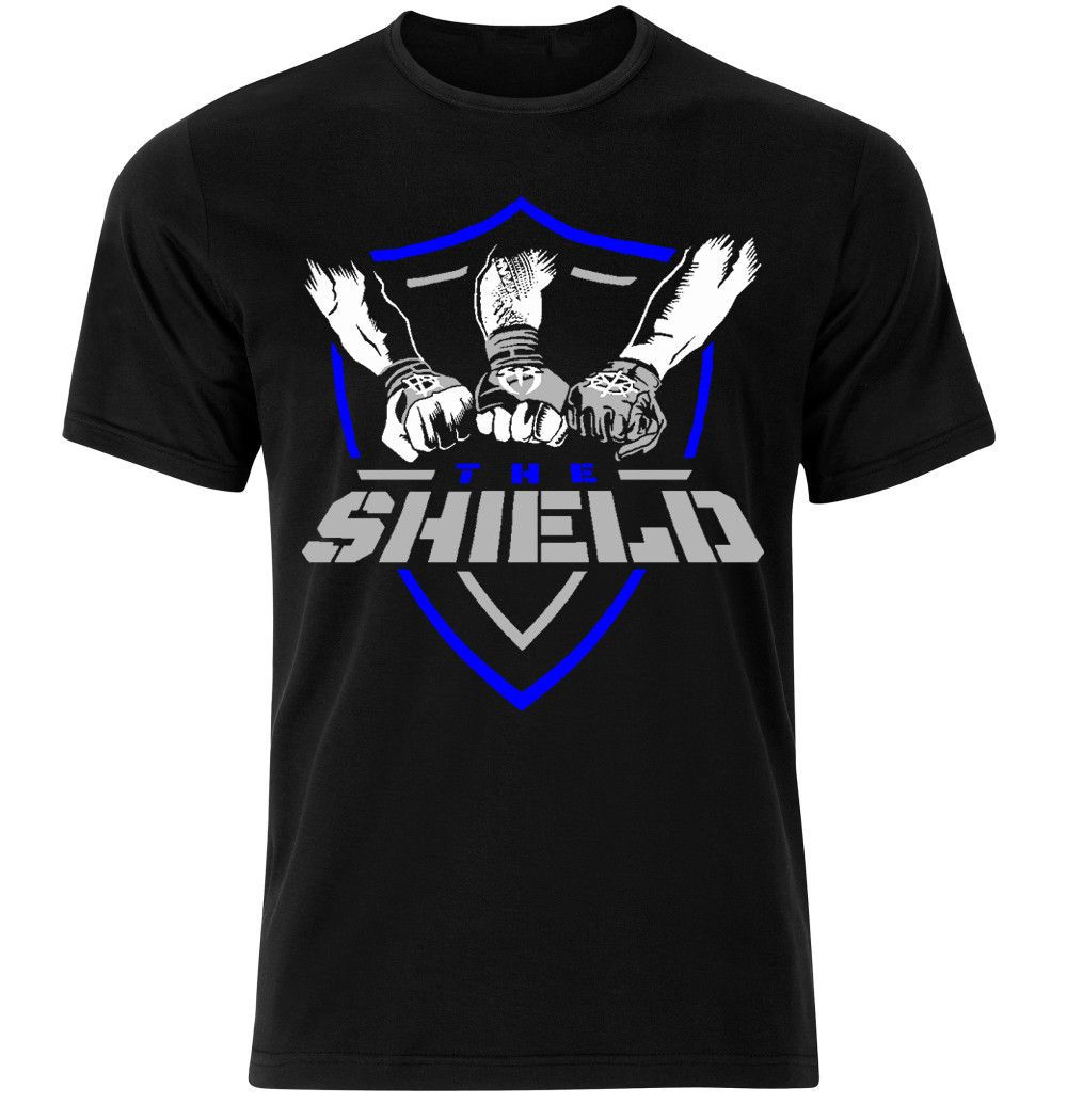 332e59d8 WWE The Shield Dean Ambrose Seth Rollins Roman Reigns T-Shirt Mens Kids -  http
