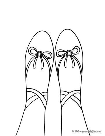 Toe Ballet Shoe Coloring Page More Dance And Sports Pages On Hellokids