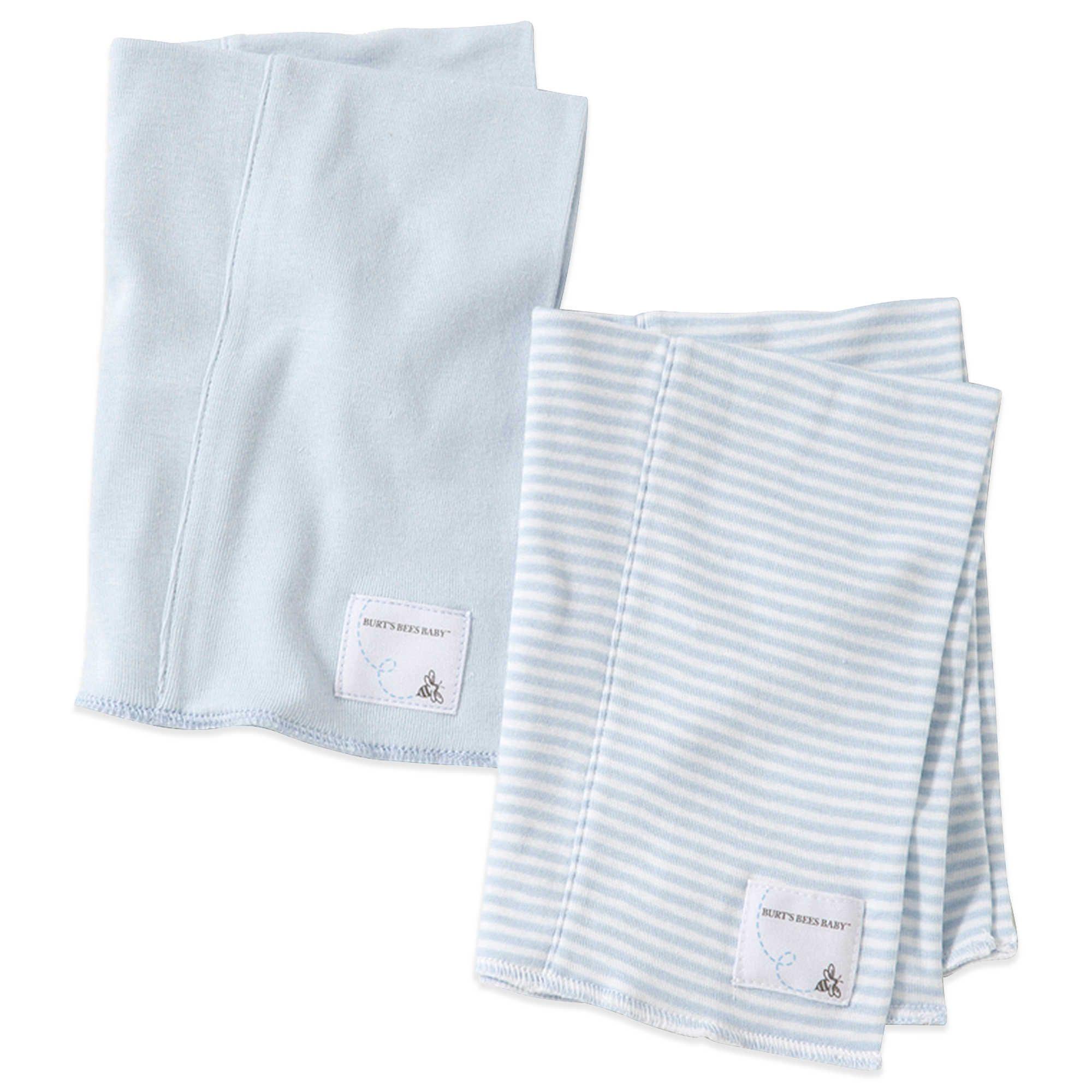 7317a83dd Burt s Bees Baby® 2-Pack Organic Cotton Burp Cloths in Sky Stripe ...