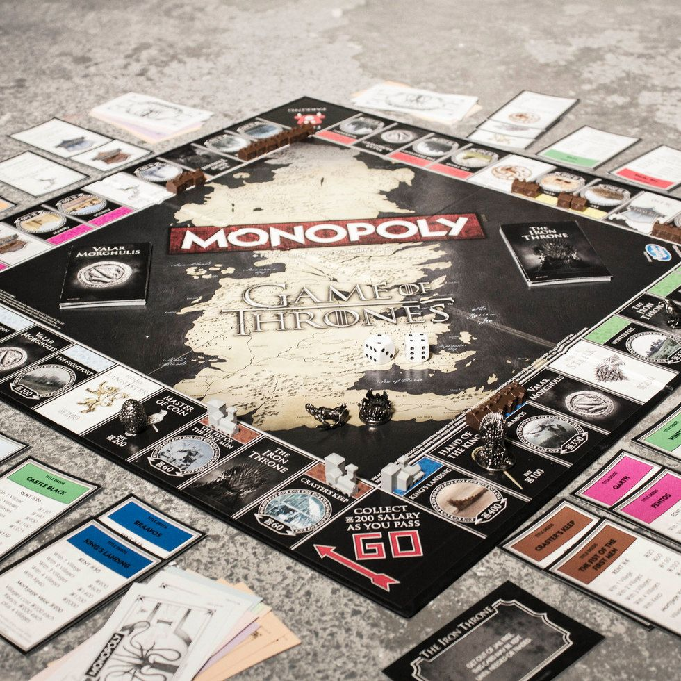 Game Of Thrones Monopoly When You Play The Game Of Thrones You Win Or You Die Buy Sell And Trade Your Way To The Iron Game Of Thrones Gifts Monopoly Games