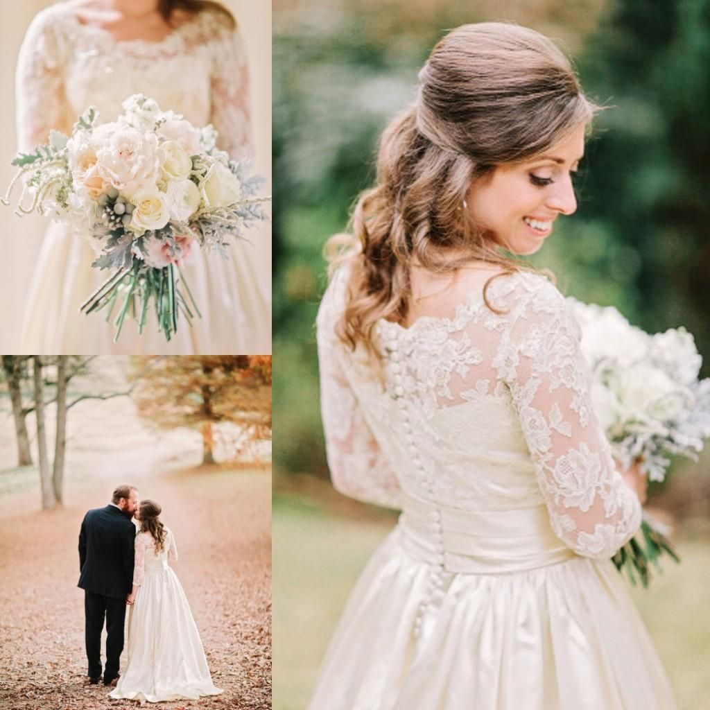 Cheap Wedding Dresses For Sale: 2015 Vintage Country Satin Wedding Dresses For Rustic