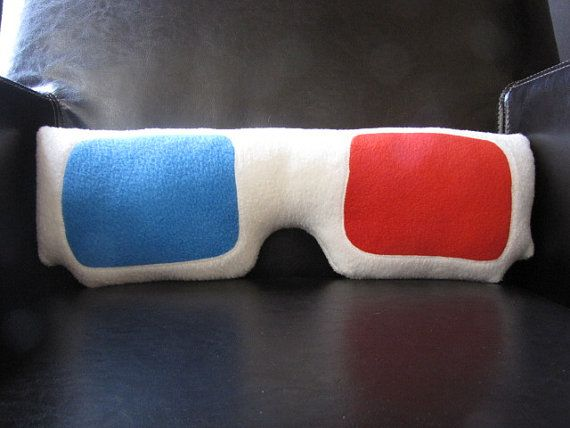 3D Glasses Pillow - Geek Chic Home Decor - $30.00