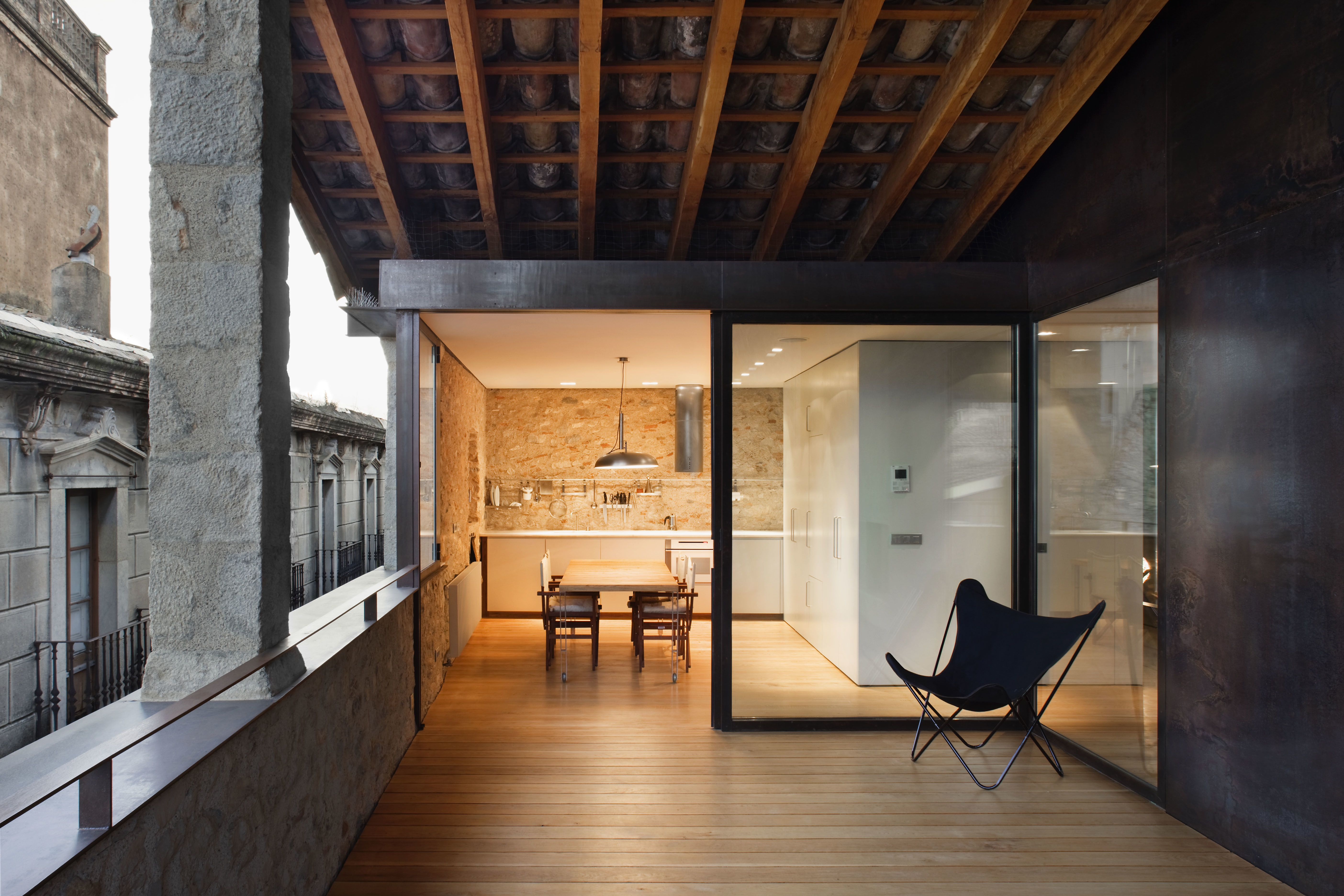 A Ious Wood Decked Veranda That S Part Of The Duplex Apartment