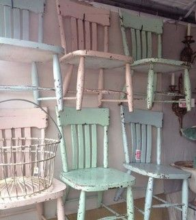 Pastel coloured chairs