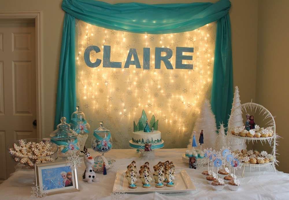 Frozen Birthday Party Ideas Photo 2 Of 12 Frozen Birthday Party Frozen Theme Party Frozen Birthday