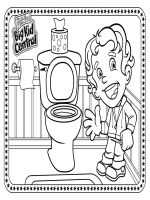 potty coloring sheet