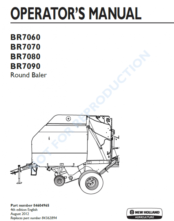 New Holland 654 Round Baler Operators Manual By Laoho99 Issuu