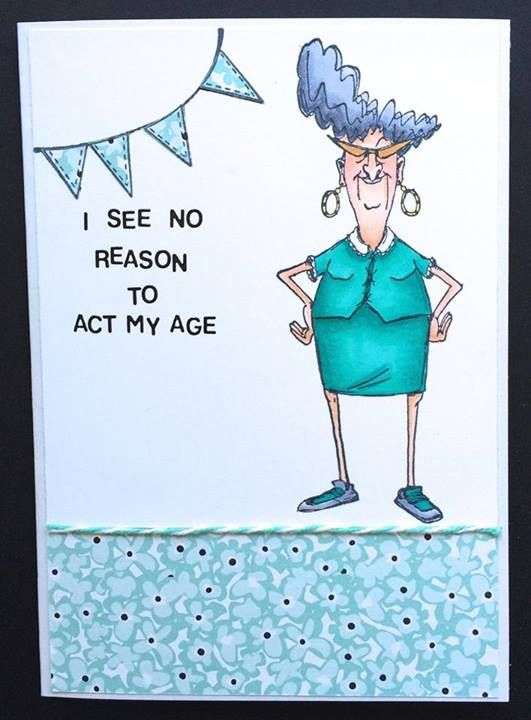Art Impressions Golden Oldies Ai Eunice Birthday Card