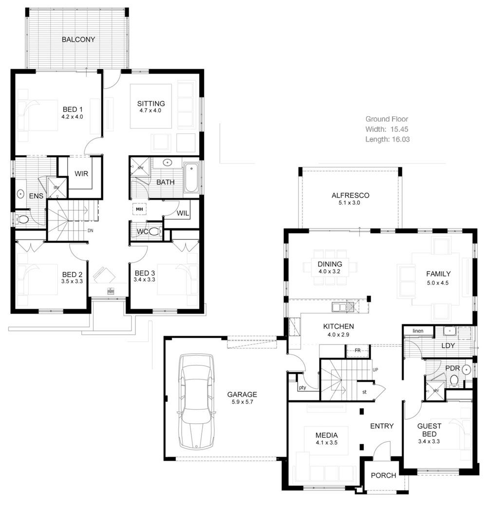 Nice floorplan House plans australia, Double story house