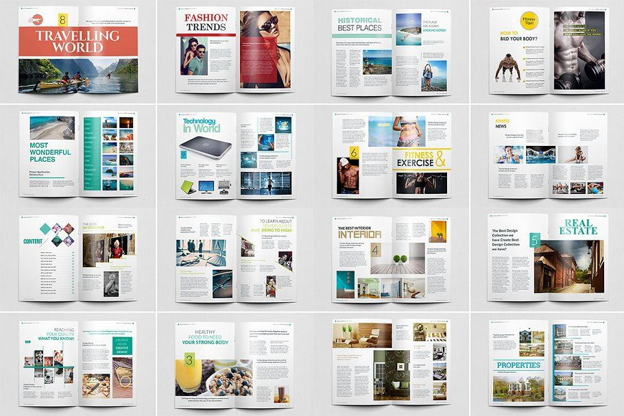 Magazine Bundle_10 Template_V01 Font guide, Templates