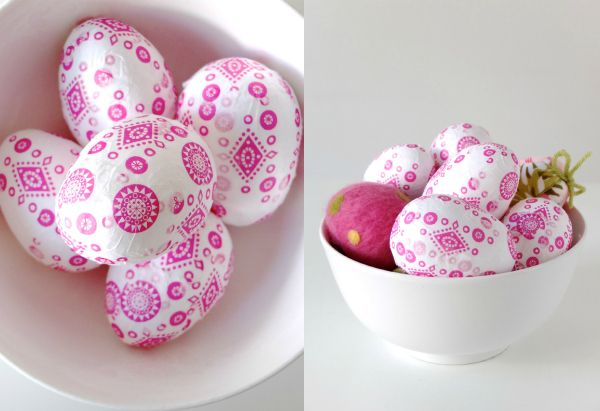ostereier gestalten idee serviettentechnik rosa muster ostern pinterest ostern ostereier. Black Bedroom Furniture Sets. Home Design Ideas