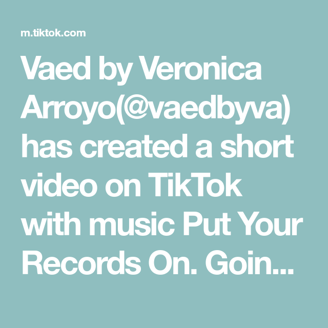 Vaed By Veronica Arroyo Vaedbyva Has Created A Short Video On Tiktok With Music Put Your Records On Going With The Flow Give It To Me Sewing Tutorials Music