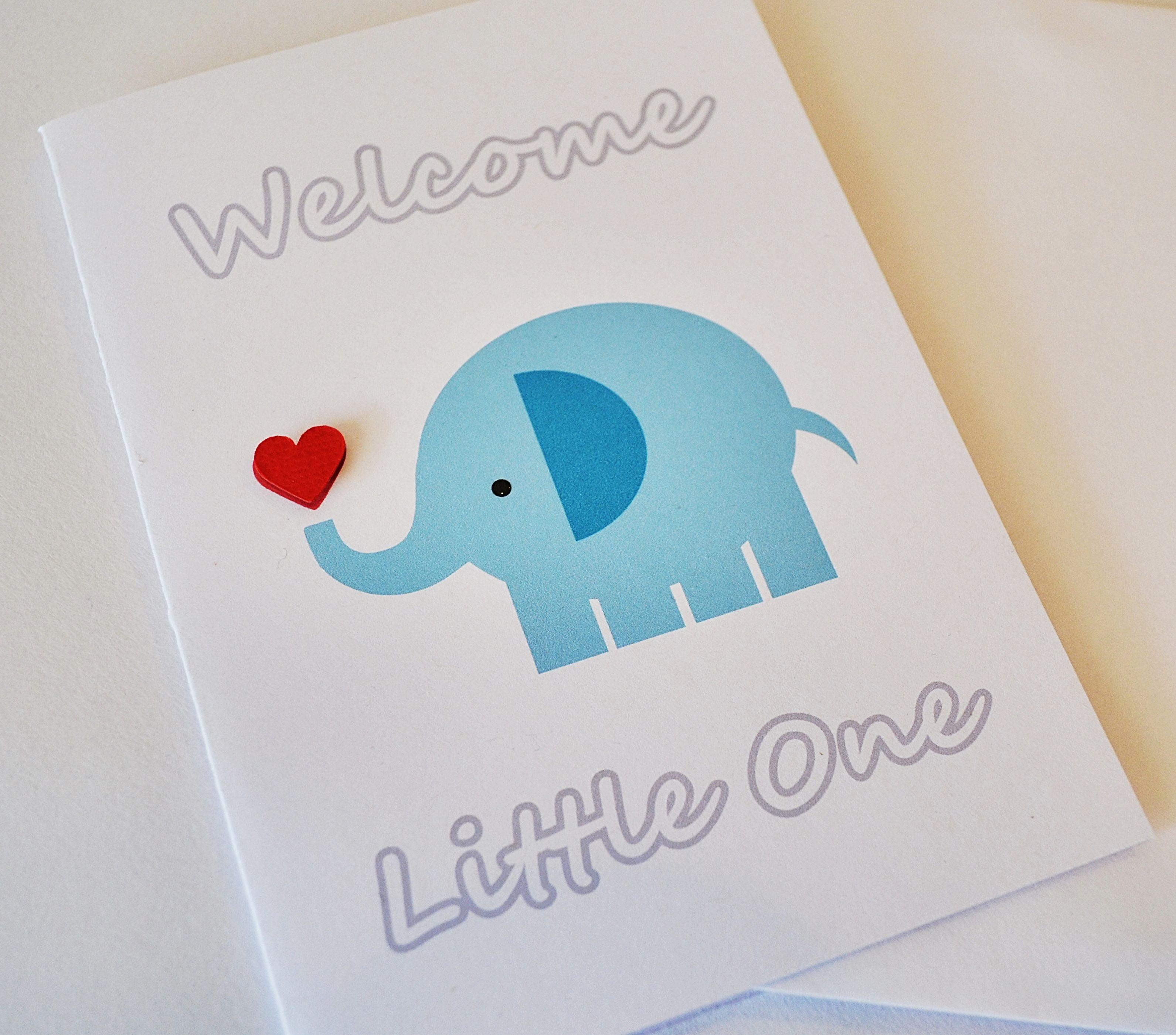 Welcome little one handmade greeting card suitable for a baby welcome little one handmade greeting card suitable for a baby boy http kristyandbryce Choice Image