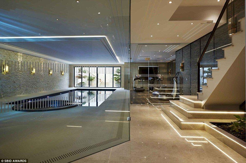 Pin by sugeng ariyadi on bathroom modern basement glass for Pool design london ontario