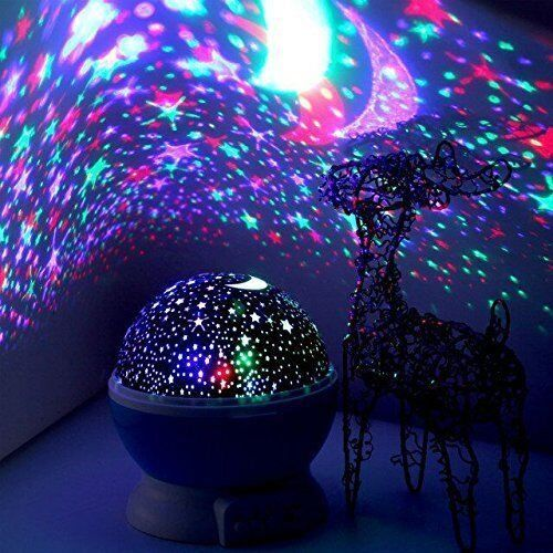 Newest generation led night lighting lamp elecstars light up your bedroom with this moon starsky romantic led nightlight projector best gift for