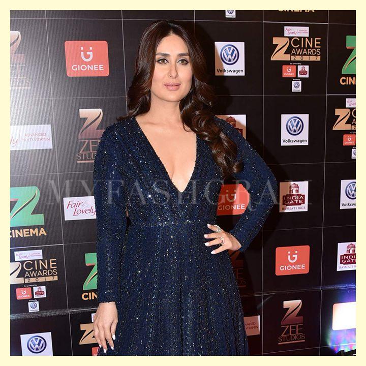 Kareena Kapoor Khan In Falguni Shane Peacock Zee Cine Awards 2017 Myfashgram Kareena Kapoor Fashion Red Carpet Fashion