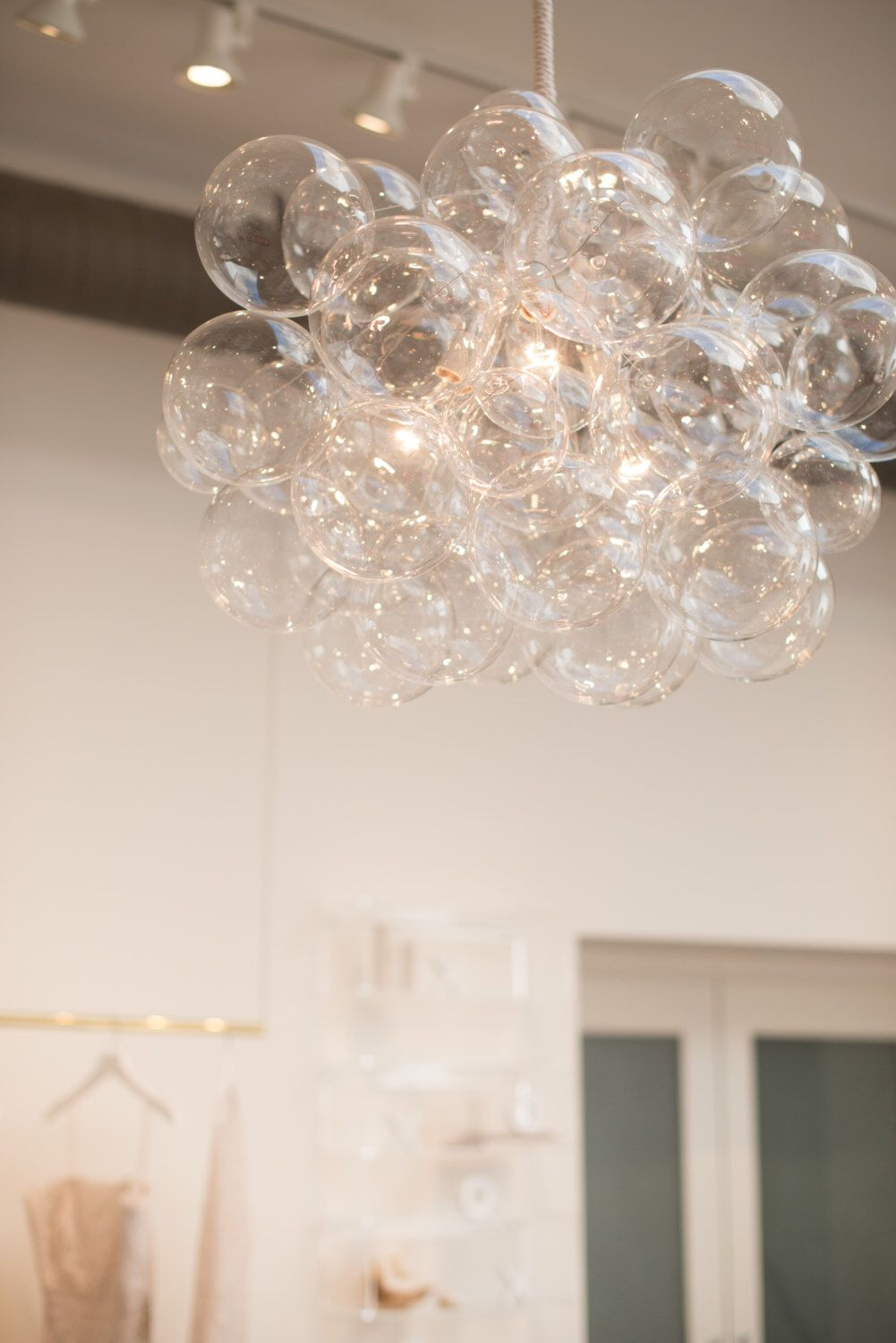 The 45 Bubble Chandelier • Bubble Light • Dining Room Chandelier • LED Lighting • Ceiling Light • Custom Chandelier #bubblekronleuchter