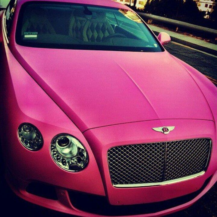 One For The Ladies Bentley Continental Gt Pink: Pink Bentley ☆ Girly Cars For Female Drivers! Love Pink
