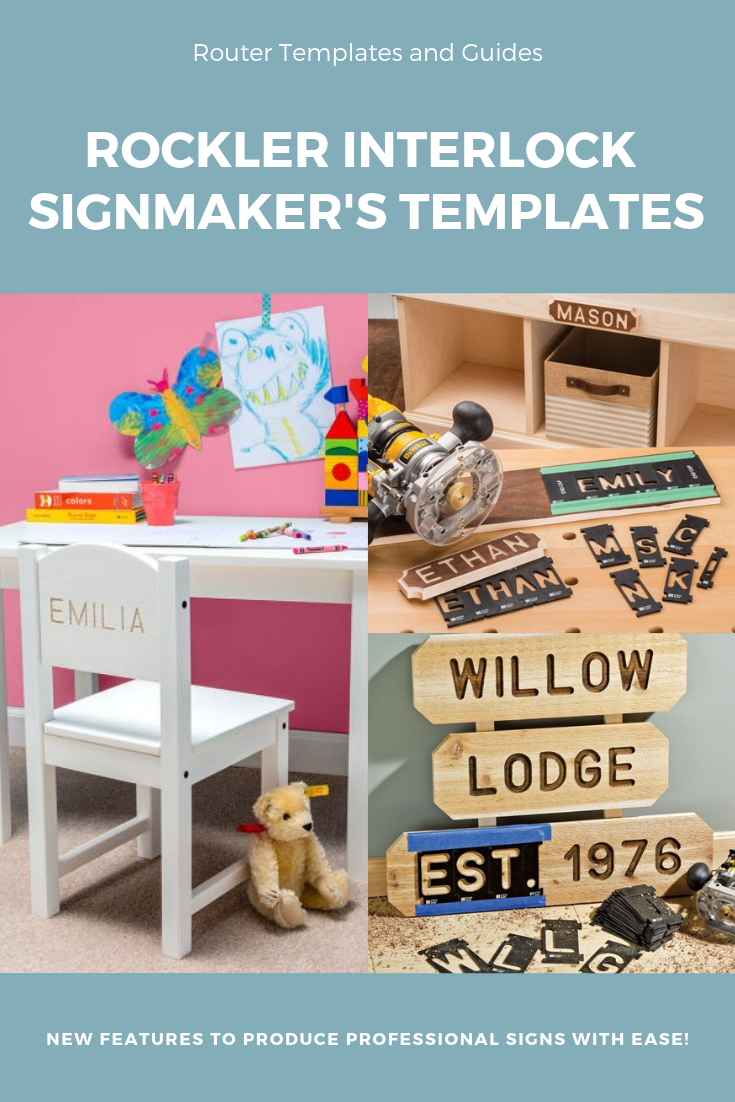 Rockler Interlock Signmaker's Templates - State Park Font ...