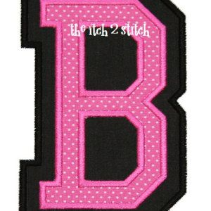 "Double Applique Varsity Font Satin Finish 3"", 4"", and 5"" INSTANT DOWNLOAD now available"
