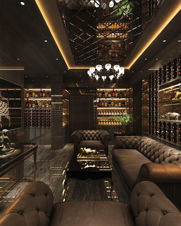 Cigar Room On Behance Cigar Lounge Decor Home Bar Rooms Cigar Lounge Man Cave