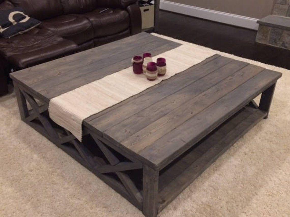 Custom rustic farm house coffee table extra large