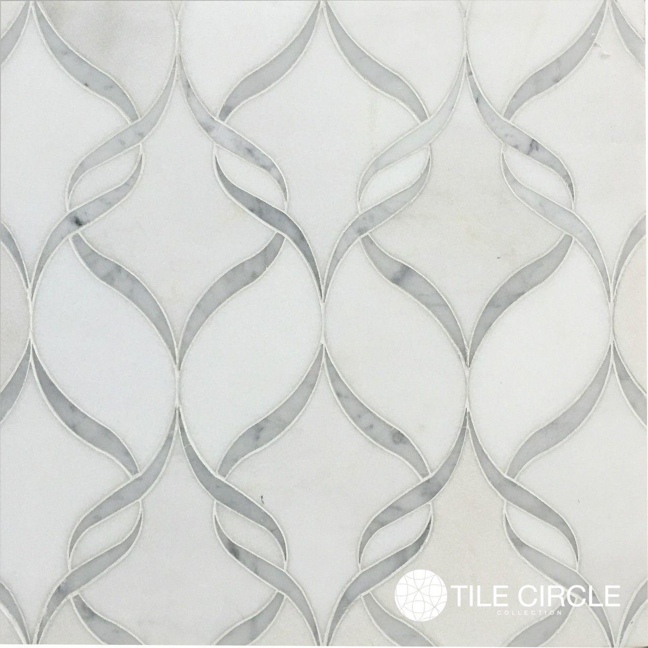 Tile circle waterjet backsplash tile wall tile floor for Carrara marble per square foot