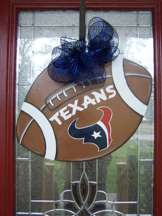 Texans Football Door Hanging House Football Party by samthecrafter ... 268fe27e1