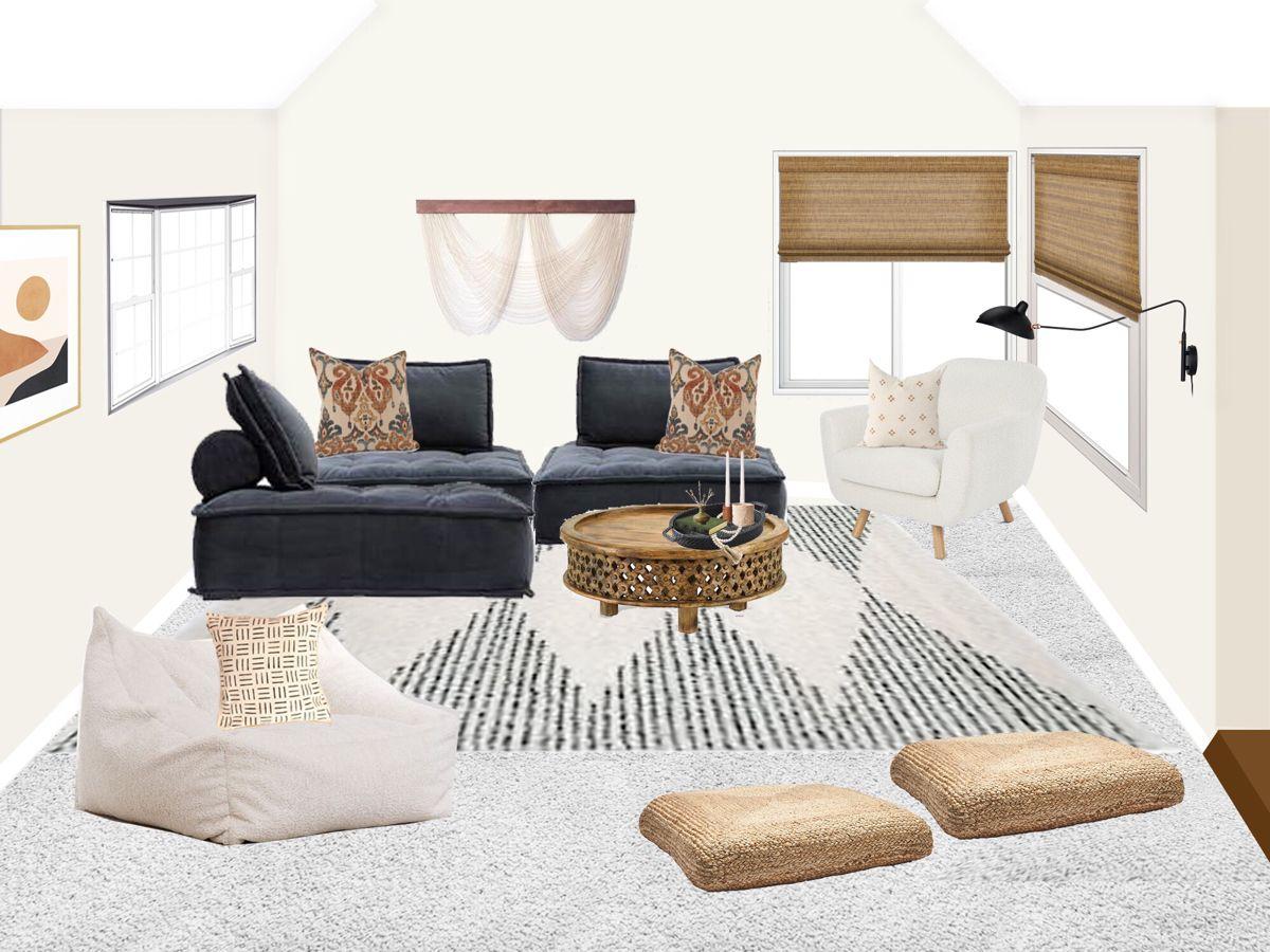 Complete Room Design Living Room Design Living Room Update Complete Room Design Edesign Package Cozy Living Room Design Room Design Sunken Living Room E design living room