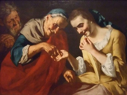 The Fortune Teller by Gaspare Traversi Italian 1760 CE oil on canvas  #TuscanyAgriturismoGiratola