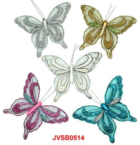 The Iridescent Glitter Artificial Sheer Butterflies in assorted colors and sizes! Artifical Butterflies-Decorative Butterflies-Floral Crafts.