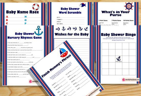 Free Printable Nautical Baby Shower Games Free Printable Baby
