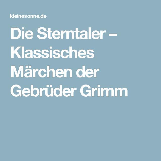 Die Sterntaler Klassisches Marchen Der Gebruder Grimm Sterntaler Sterntaler Marchen Klassische Marchen