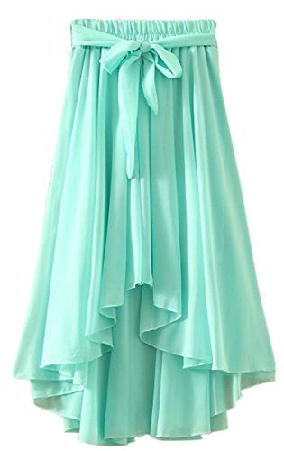 91ced4c5f Tengfu Womens Summer Irregular Bohemia Bowknot Giant Chiffon Long Beach  Skirt -- You can get more details by clicking on the image.