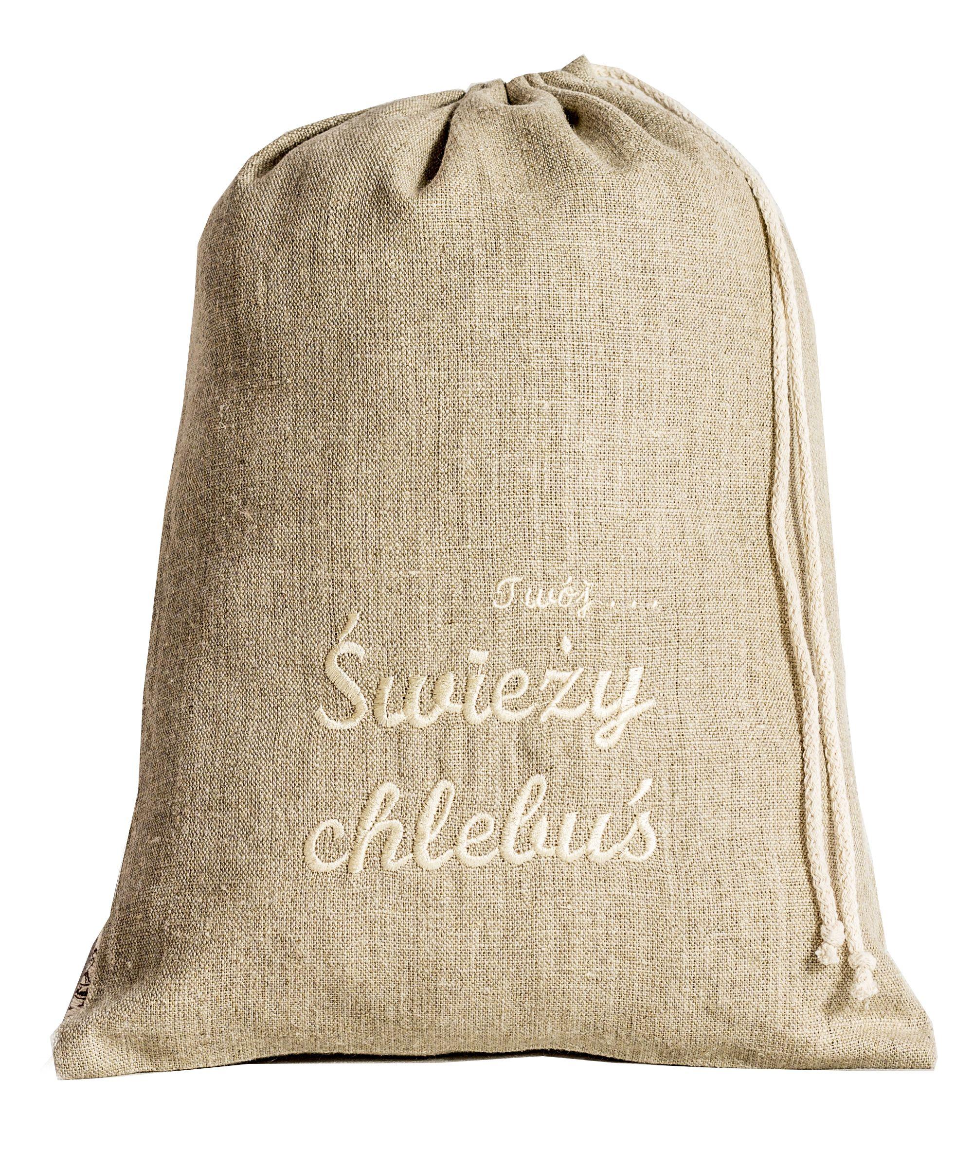 Lniany Worek Do Chleba Twoj Swiezy Chlebus Haft Ecru Jute Bags Wholesale Gift Bags Small Jute Bags