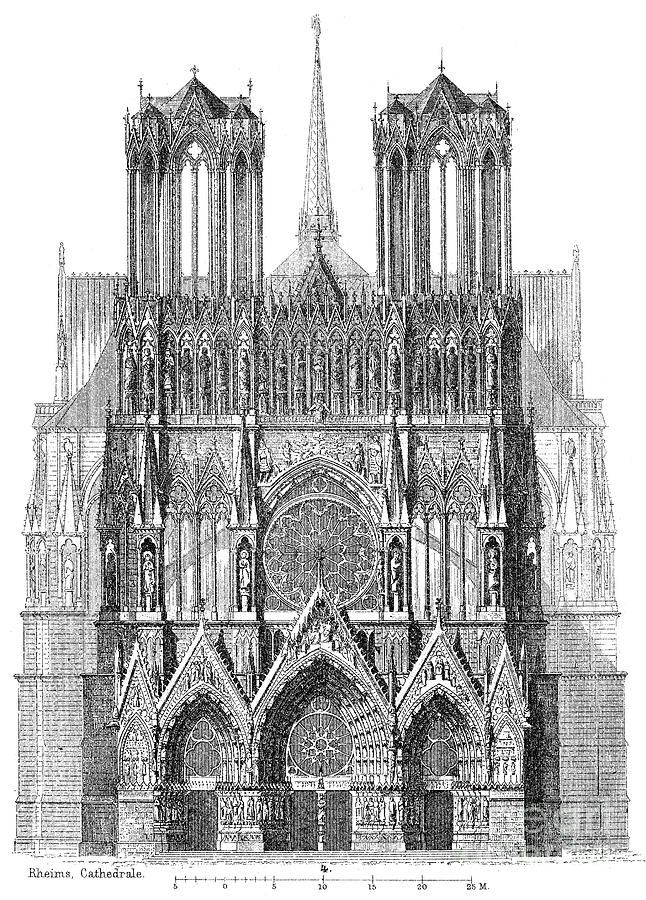 Reims Cathedral Liturgical West Elevation Architecture