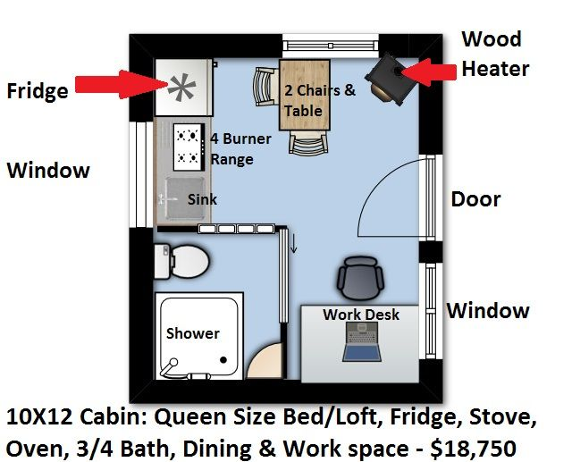Image Result For 10x12 Cabin With Loft Plans Cabin Loft Cabin Tiny House Floor Plans