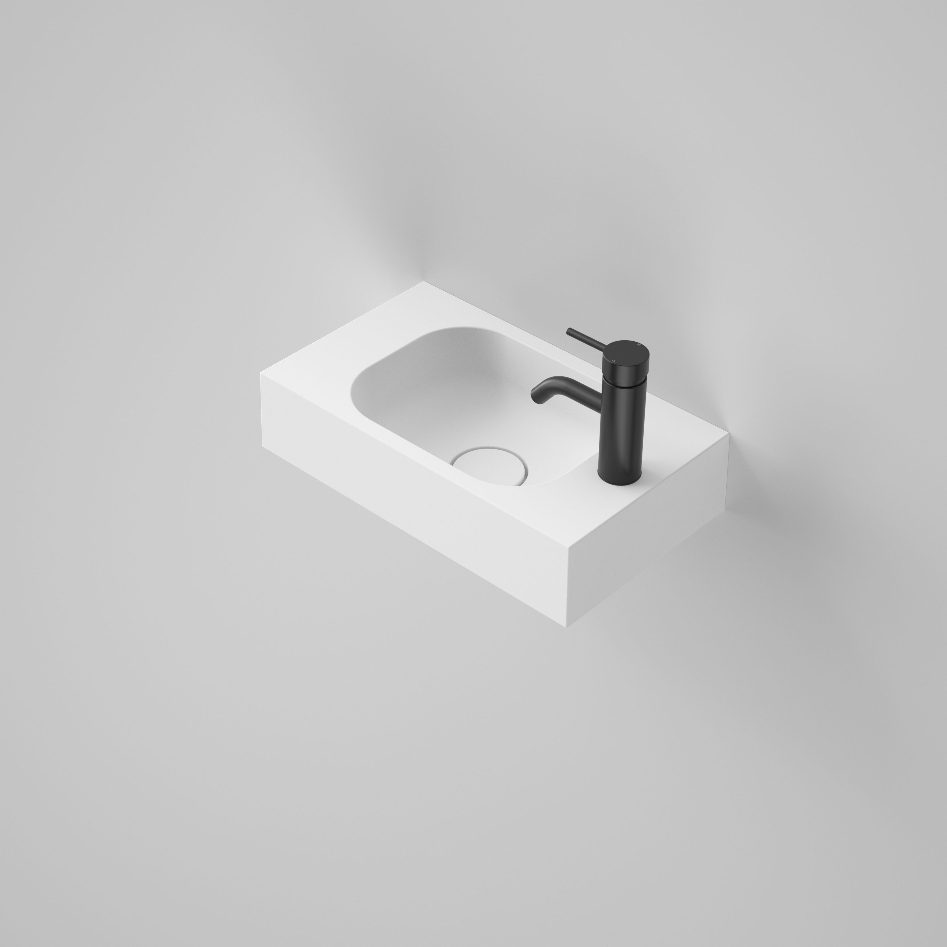 Caroma Sunstone 450 Solid Surface Hand Wall Basin Introducing Sunstone From  Caroma. This Range Of