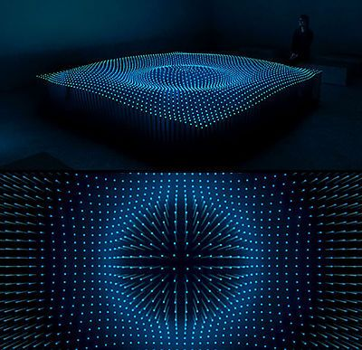 light installation - interesting waving surface