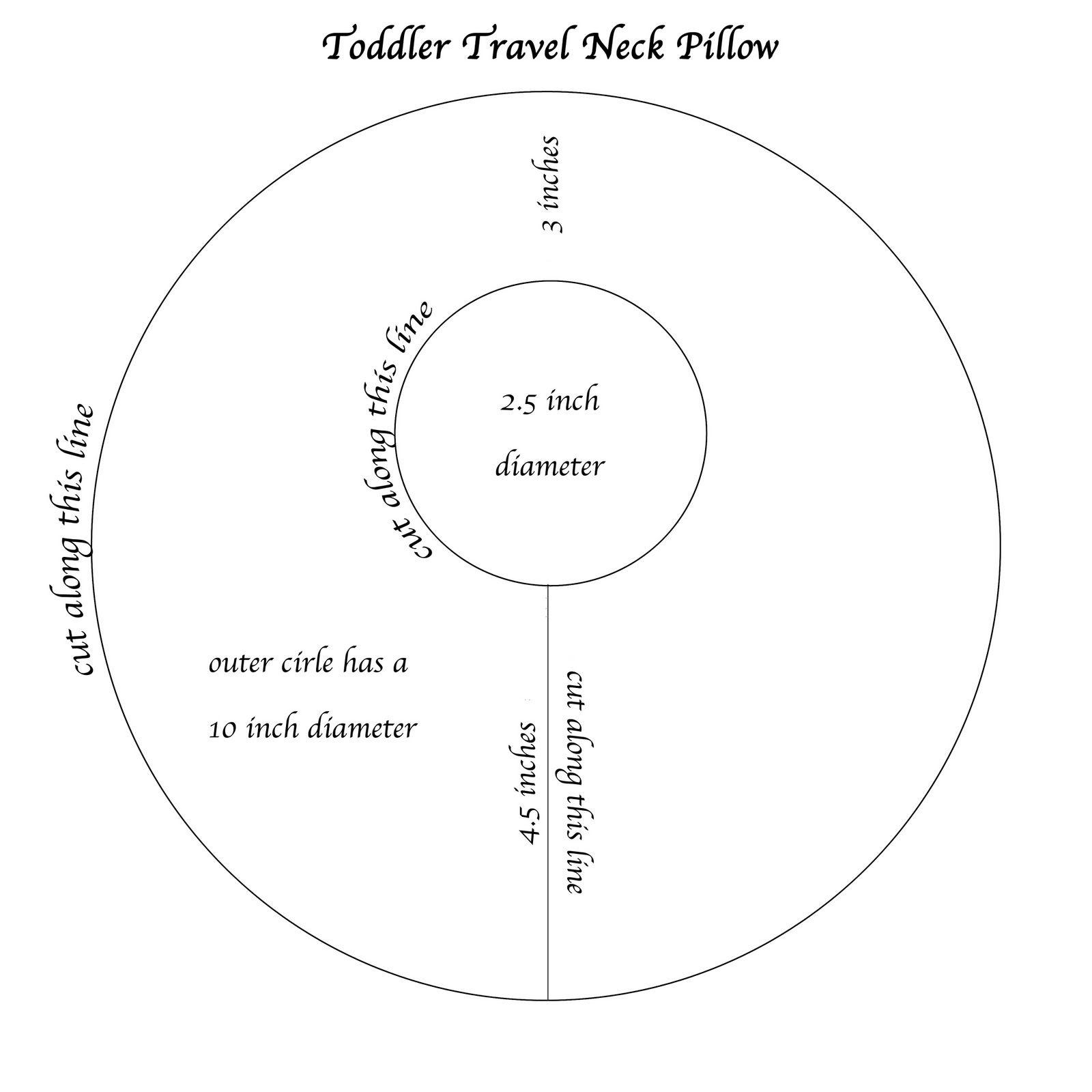 travel pillow tutorial neck pillow