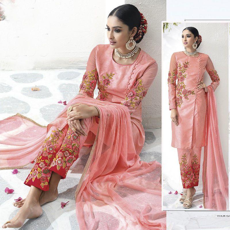 New Designer Bollywood Ethnic Wedding Party Wear Stylish Shalwar ...