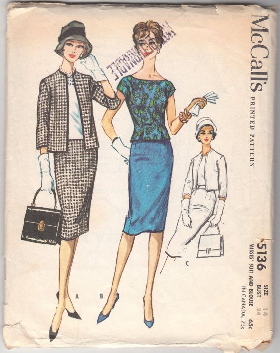 Vintage Sewing Pattern Ladies\' Dress McCall\'s 5136 34\