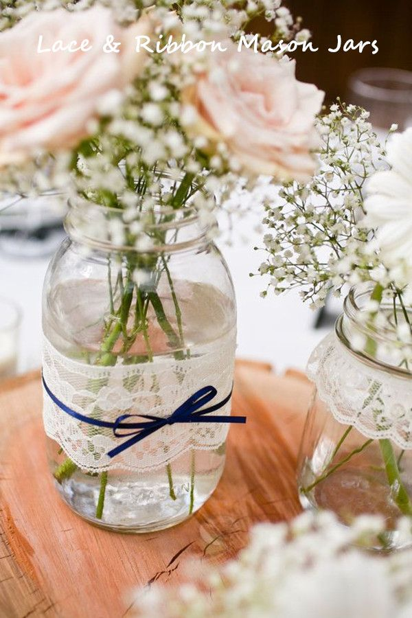 40 Creative And Budget Friendly DIY Wedding Ideas InvitesWeddings New Wedding Table Decorations With Mason Jars
