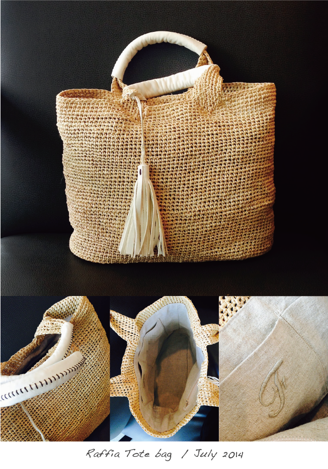 Raffia Tote bag June 2014
