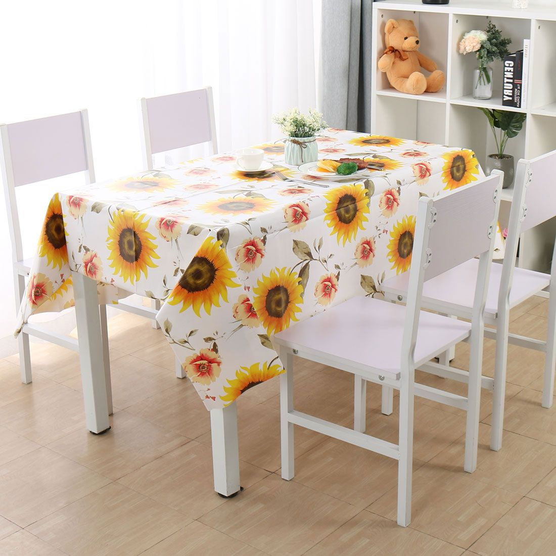 Wipe Clean Pvc Tablecloth Kitchen Cover Sunflower Pattern 55 X40 Bedding For Home Walmart Com In 2020 Wooden Dining Room Table Table Cloth Cleaning Wipes