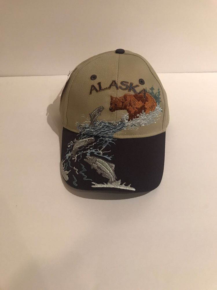 44bb576dcae Vintage Alaska Shirt Company Bear Dad Hat Strapback Cap New w  Tags RARE   fashion
