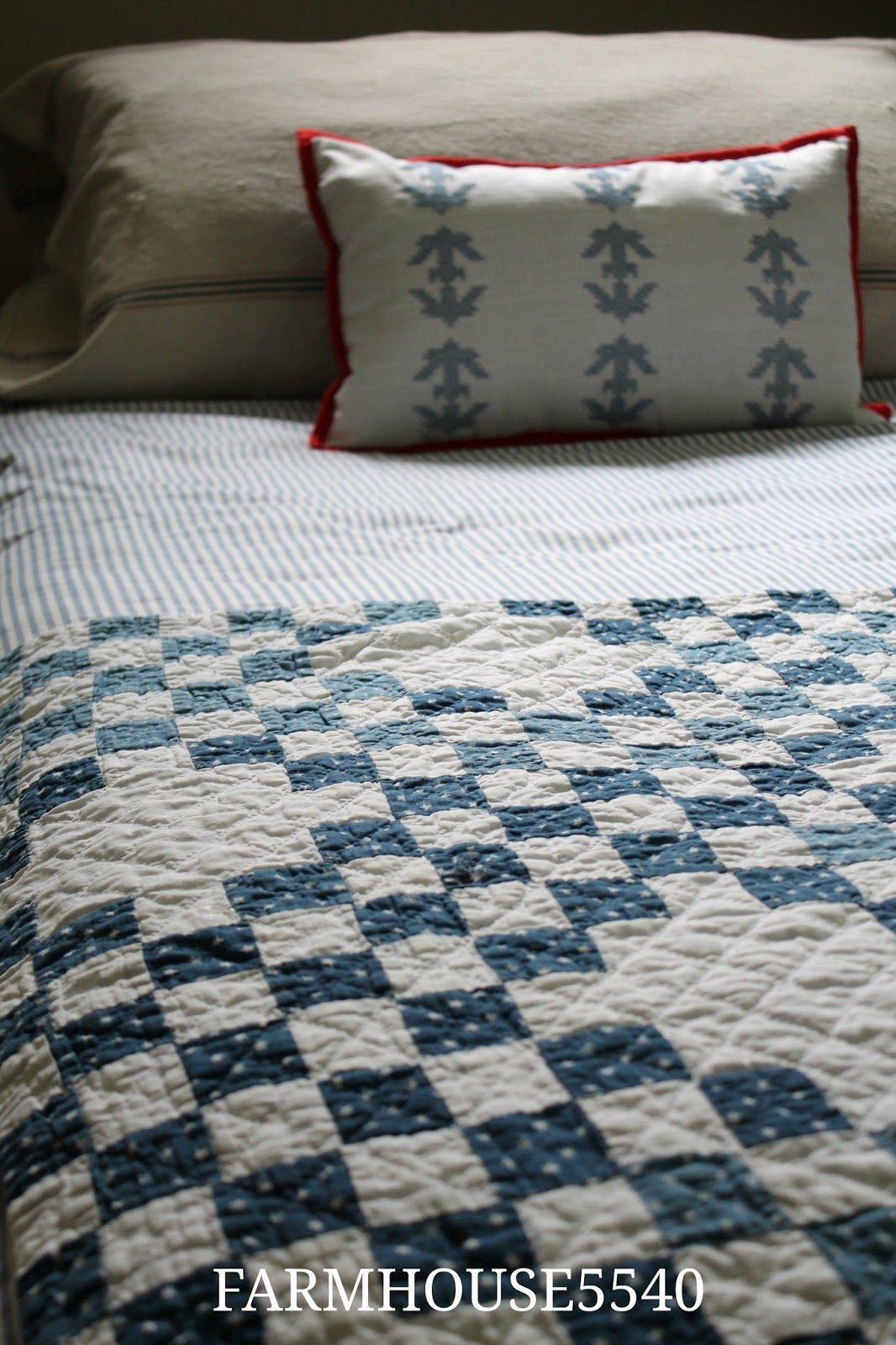 Farmhouse 5540 blue and red boys room farmhouse quilts